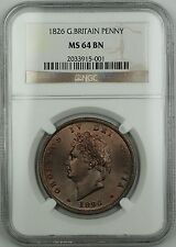 1826 Great Britain Penny Coin George IV NGC MS-64 Brown BN *Nice Luster* AKR