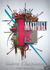 Georges MATHIEU Affiche originale Lithographie Mourlot 1965 Art Abstrait