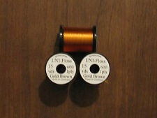 Fly Tying Uni-Single Strand Super Floss 15 yd. Gold Brown