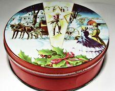 """DE LUXE Fruit Cake TIN - 7"""" x 2.5"""" - Collin Street Bakery Corsicana Texas"""