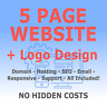 5 Page Web Design + Logo Design - Includes Domain & Hosting -  Website Design