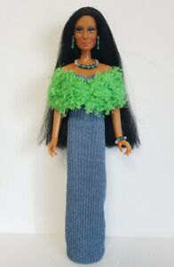 Handmade Clothes Stole, Dress & Jewelry for vintage Mego Cher Farrah NO DOLL d4e
