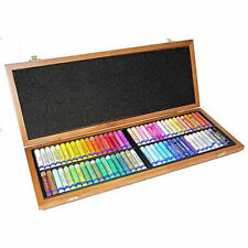 Inscribe Gallery Artists Oil Pastels Wooden Box of 72 Assorted Colours
