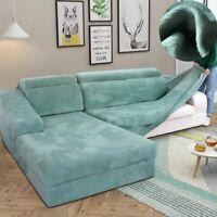 Velvet Plush L Shaped Sofa Covers Living Room Elastic Furniture Couch Slipcover