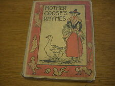Vintage - 1899 MOTHER GOOSE'S RHYMES Hardcover by Lathrop Publishing Company