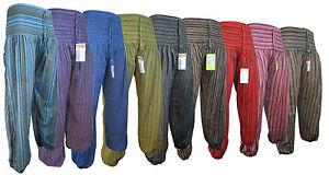 Cotton Harem High Waist Genie Casual Holiday Elastic Light Summer Pants Trousers