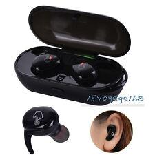 Waterproof Wireless Bluetooth TWS Sports Headphones In-Ear Stereo Earbuds W Mic