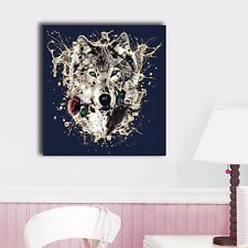 80×80×3cm Abstract Wolf Canvas Prints Framed Wall Art Home Decor Painting Gift