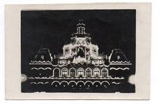 PHOTO ANCIENNE Éclairage nuit Jeu de lumière 1927 Hôtel de Ville France ?
