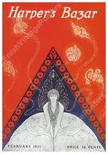 Erte art deco Harper's Bazar February 1921 cover poster 17x24