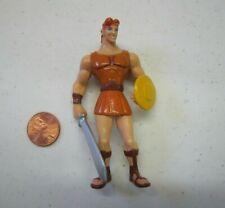 "Vintage Disney HERCULES w/ Sword 3.5"" PVC Action Figure Cake Topper Toy 1996"