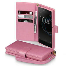 PU Leather Wallet Case Cover for Sony Xperia XA1 - Millennial Pink