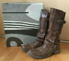 Fiorentini + Baker Eternity engineer moto boots brown leather size 39 9 buckle