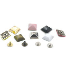 Pyramid Square Stud Spike Screw Spot Rivet Head Button Leather Craft Bag DIY Cap