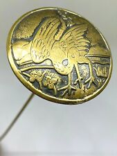 Antique Hat Pin Prince of All Feathered. Longevity& Happiness. Crane Collectible