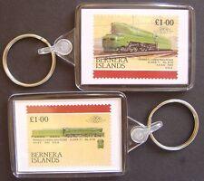 1942 Pennsylvania Railroad Class T1 6110 4-4-4-4 Train Stamp Keyring (Loco 100)