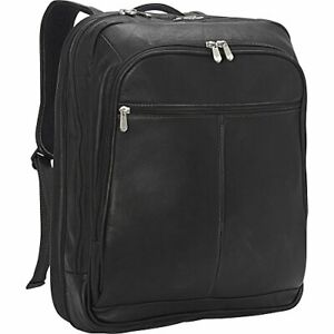 Piel Leather XL Laptop Travel Backpack Black One Size