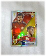 2014 Panini Prizm World Cup Refractor Matchups Aleksandr Kokorin Eden Hazard 17