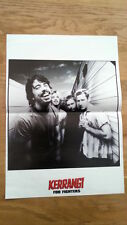 FOO FIGHTERS by the bus Centerfold magazine POSTER  17x11 inches