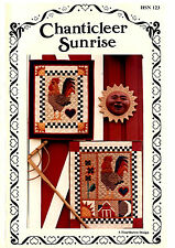 Chanticleer Sunrise ~ Quilt Quilting Pattern ~ by Hearthsewn HSN 123 ~ Rooster