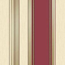 Sinergia Papel Pintado Rayas Rojo Intenso - Vymura M0803 con purpurina