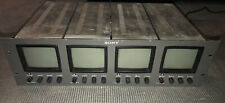 """Sony Commercial Rackmount 4"""" B&W Video Monitor System Security Camera PVM-411"""