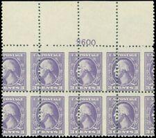 530, Unbelievable Misperforation Error Plate Block of 8 Stamps WoW - Stuart Katz