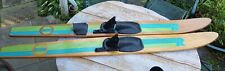 """Vintage Pair 68"""" Full Size RIVIERA Competitor Series Wood Wooden Water Skis"""