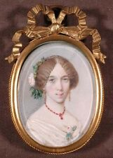 """Young French Lady"", Portrait Miniature, ca.1850"