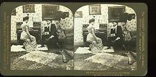 H. C. WHITE CO Photo stéréo Romance sans paroles cour harmonieuse scène de genre