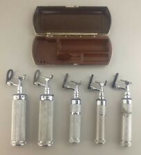 Lot of 5 Vintage Welch Allyn Physician Otoscope Ophthalmoscope w/ Bakelite Case