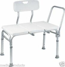Heavy Duty Wheelchair to Bath Tub Shower Transfer Bench Transfer Seat Hand Rail