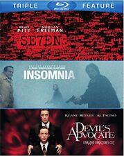 Seven / Devil's Advocate / Insomnia [New Blu-ray] 3 Pack