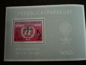 Stamps - Paraguay - Scott# 683 - Souvenir Sheet