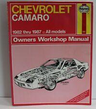 Haynes Repair Manual Chevrolet Camaro 1982-1987
