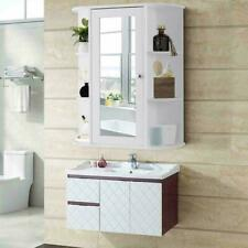 Medicine Cabinet Bathroom Wall-Mounted w/ Mirror Bath Cabinet Home Decor White
