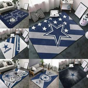 Dallas Cowboys Living Room Area Rug Bedroom Floor Mat Bathroom Non-Slip Carpets