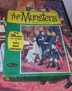 Vintage 1965 Whitman The Munsters Jigsaw Puzzle 99 Pieces AS IS