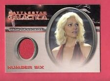 TRICIA HELFER WORN COSTUME RELIC SWATCH CARD CC39 BATTLESTAR GALLACTIA NUMBER 6