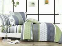 *DEXTER* Duvet/Doona/Quilt Cover Set Double/Queen/King/Super King Size Bed New