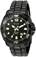 Bulova Sea King 98B242 Black Dial Black Ion Plated Stainless Steel Men's Watch