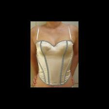 Elle Macpherson Peach/Grey Silk SONNET U/W Preformed Strapless Basque