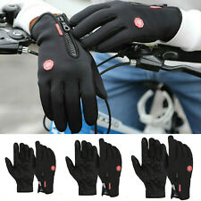 Mens Winter Warm Windproof Waterproof Anti-slip Thermal Touch Screen Gloves