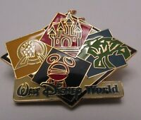 Disney WDW Walt Disney World Four Parks, One World Icons Pin