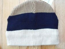 The Children's Place Boys Striped Hat 10-14 Blue Brown White 50% Off NWT New