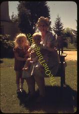 Blonde Girls Long Island St James 1940s 35mm Slide Vtg Red Border Kodachrome Kid