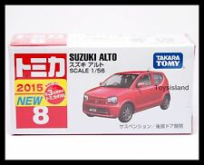 TOMICA #8 SUZUKI ALTO 1/56 TOMY 2015 OCT New Diecast Car RED