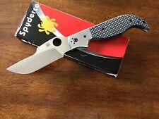 Spyderco Navaja Folding Knife w/ Carbon Fiber C147CFP Discontinued