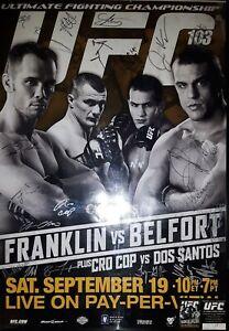 UFC-103 SBC Event Poster #59/125 COA  26 Signatures:Cro Cop,Belfort,Franklin,+23