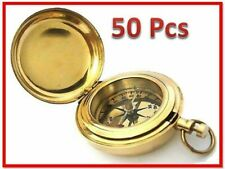 Nautical LOT 50 PUSH SOLID BRASS 2 Inch COMPASS-POCKET WATCH STYLE COMPASS GIFT